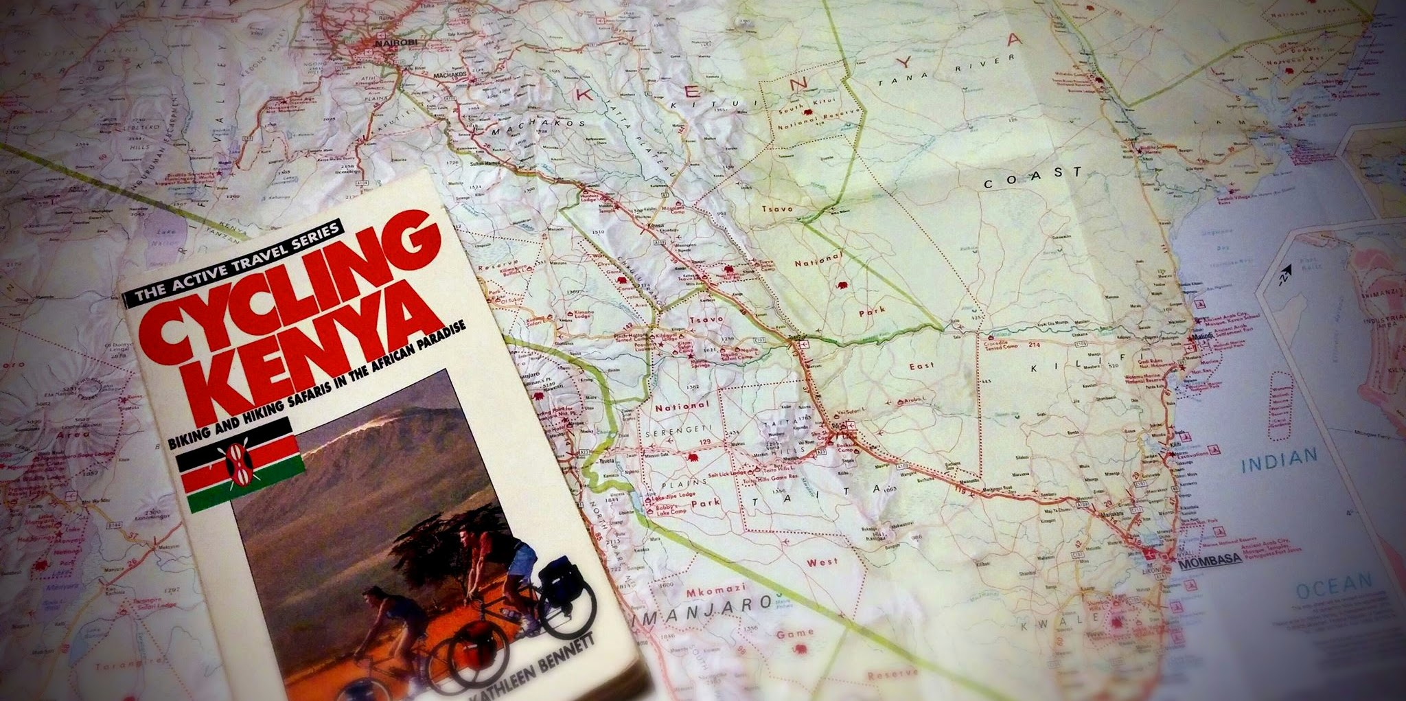 Cycling Kenya book and map of Kenya